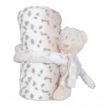 Detská deka s plyšovou hračkou Leopard