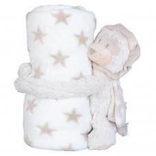 Detská deka s plyšovou hračkou Lev