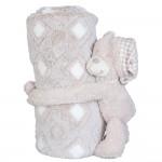 Detská deka s plyšovou hračkou Medvedík