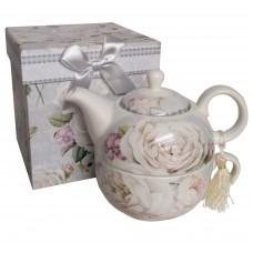 Čajník so šálkou Rose v ozdobnej krabičke