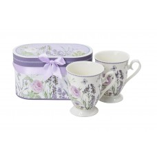 Sada porcelánových šálok Lavender