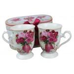 Sada porcelánových šálok Red Rose